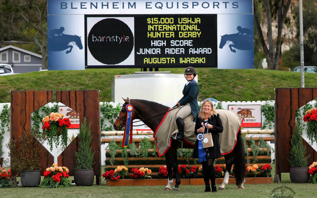 Augusta Iwasaki and Small Kingdom Top the Field and Earn Their First USHJA International Hunter Derby Victory